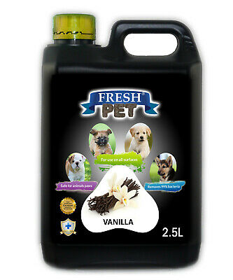 Fresh Pet Disinfectant for Dogs & Cats - Vanilla -  2.5L Black