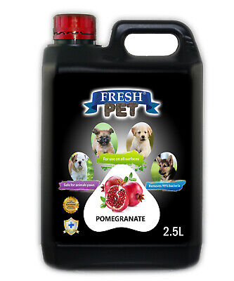 Fresh Pet Disinfectant for Dogs & Cats - Pomegranate -  2.5L Black