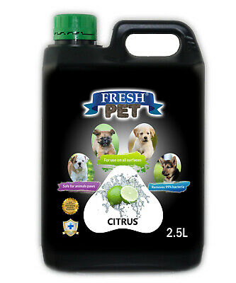 Fresh Pet Disinfectant For Dogs Cats 2.5L - Citrus (With/ Without Pump) Black