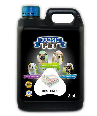 Fresh Pet Disinfectant For Dogs 2.5L - Fresh Linen -  (With/ Without Pump) Black
