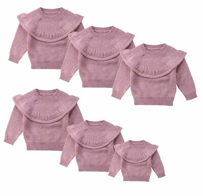 Cute Newborn Sweaters Baby Girls Winter Casual Lace Tops Warm Knit Pullover Gift