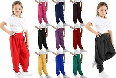 Kids Girls Boys Hareem Trouser Ali Baba Harem Leggings Pants Customs Dance