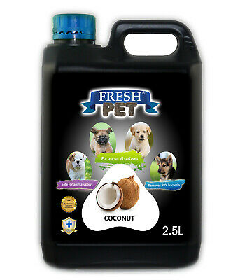 Fresh Pet Disinfectant For Dogs 2.5L - Coconut - (With/ Without Pump)Black