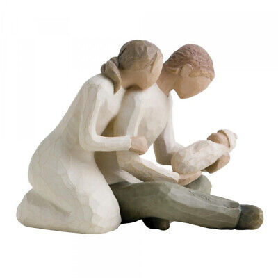 Willow Tree New Life Figurine Ornament 26029 Parents with new baby - New & Boxed