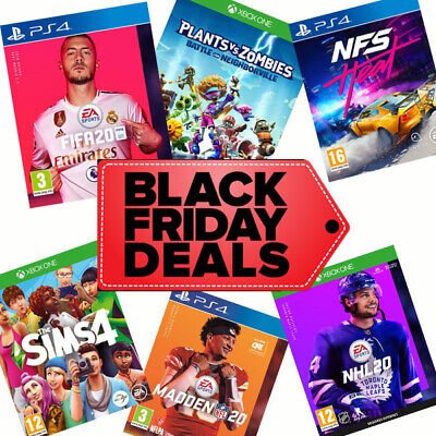 Black Friday Deals on New EA Games - FIFA 20 Madden NHL Sims 4 Need For Speed