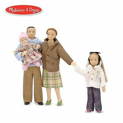 Melissa  Doug Victorian Doll Family, Dollhouse Accessories (4 Poseable Play