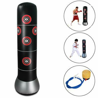 Inflatable Free Standing Boxing Punch Bag Stand MMA Kick Martial Training Pump Q