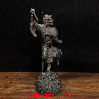 "7.6"" China old antique Pure copper Kui Xing Buddha statue"