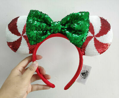 Disney Parks Mickey Minnie Mouse Lollipop Ears Headband new