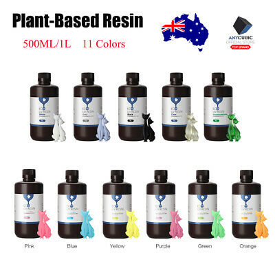 AU ANYCUBIC Plant-based Resin Light Cure for SLA 3D Printing 500g/1KG 11 Colors