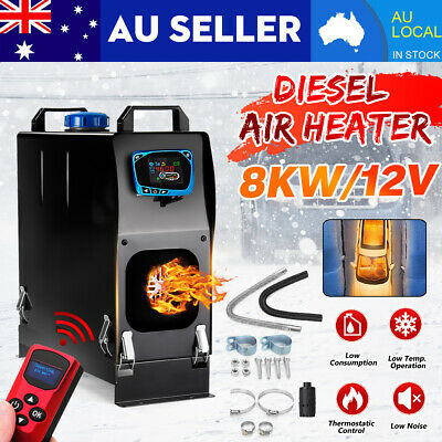 8KW 12V All IN One Diesel Air Heater Thermostat For Caravan Motorhome Trailer RV