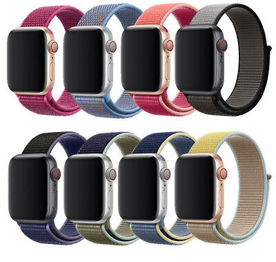 Loop Woven Nylon Wrist Watch Band Strap For Apple Watch Series 5 4 3 2 1 40/44