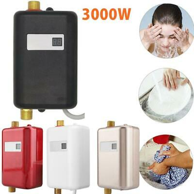 Electric Tankless Instant Hot Water Heater Under Sink Tap Bathroom Kitchen 3000W