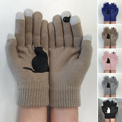 Ladies Gloves Women Outdoor Gloves Winter Knitted Outwear Autumn 2pcs/Pair