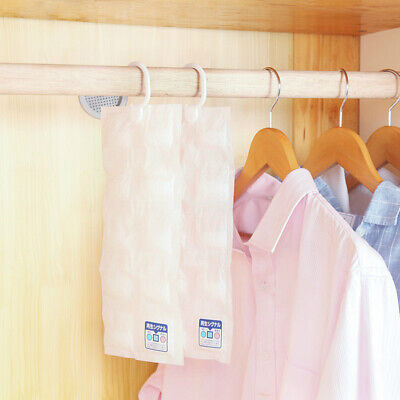 10 Grids Dehumidifier Bags Moisture Absorber Home Hanging Wardrobe Drying AgentD