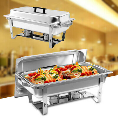 Stainless Steel Chafing Dish Set Party Hotel Buffet Server Food Warmer 1-4 Set