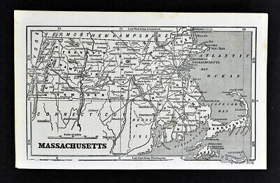1855 Charles Savage Map Massachusetts Boston Cape Cod Plymouth Nantucket Antique