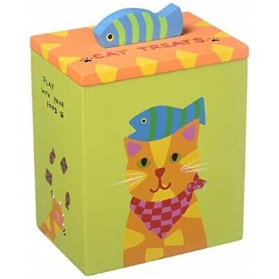 Up Country Orange Yellow Cat Treat Box
