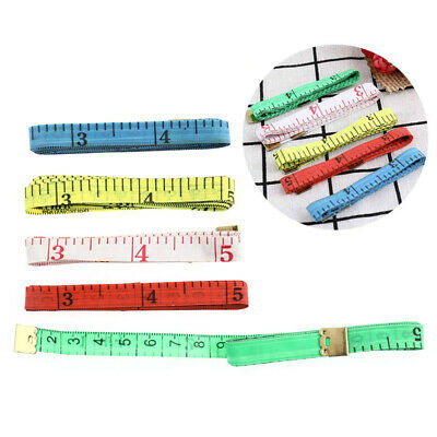 """5Pcs 150cm/60"""" Household Soft Measuring Tape Sewing Tailor Cloth Tool Ruler CY"""