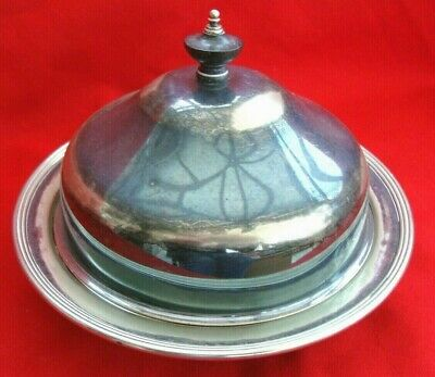 Antique Sheffield Silver Plate Epns Country Ware Table Muffin Serving Dish Bowl