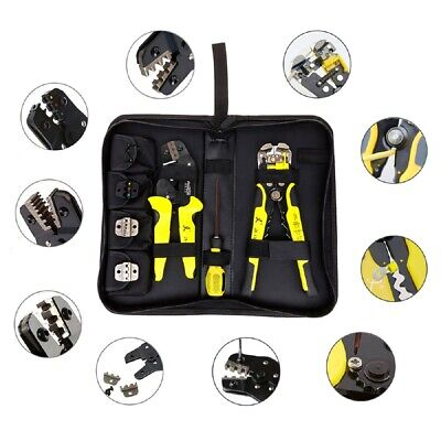 4 in 1 Automatic Cable Wire Crimping Tool Connectors Terminal Ratchet Crimper
