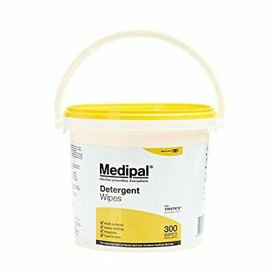Medipal Detergent Wipes - Multi Surface, Dusting, Hospitals, Care - Bucket 350
