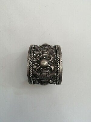 Unusual Old Antique Rare Sterling Silver Palestinian Bracelet Handmade Jewelry