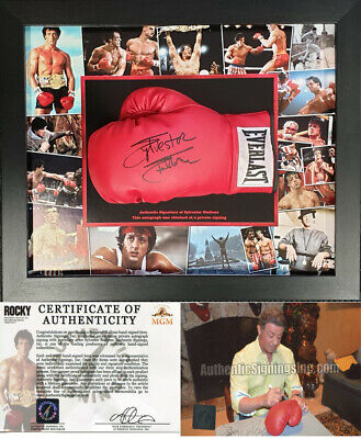 Sylvester Stallone SIGNED AUTOGRAPH Glove Rocky AFTAL UACC RD