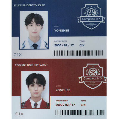CIX Yonghee Official Student Identity Card 2nd EP Album Hello Strange Place