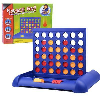 Connect Four In A Row 4 In A Line Board Game Kids Fun Educational Toy Gifts &SO4