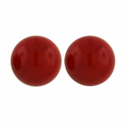 6,8 /& 10mm Round Ball Hypoallergenic Jewelry Tisoro 925 Sterling Silver Small Red Coral Stud Earrings