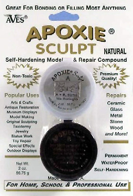Apoxie Sculpt Modeling Compound Crystal Clay Epoxy Bronze Silver-Grey 1.6oz Kit