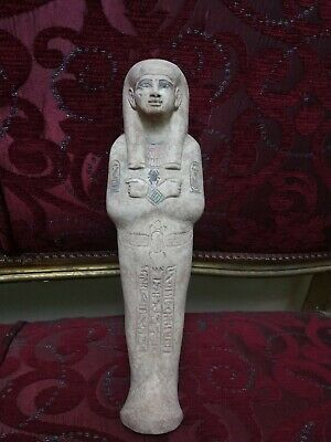 Rare Antique Ushabti Egyptian Ancient Shabti Statue Mummy hieroglyphic 30 cm Bc