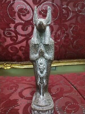 Antique Statue Rare Ancient Egyptian Pharaonic Anubis Granite 1135 Bc 30 Cm