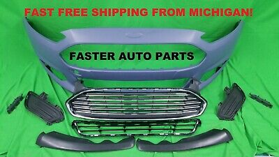 13 - 16 Ford Fusion Front Bumper cover COMPLETE WITH GRILLS AND COVERS S, SE SEL