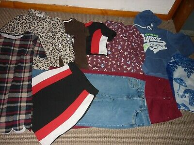 Bundle Girls Clothes age 15-16yrs Superdry BooHoo NewLook Hoodi Jeans Tops Dress