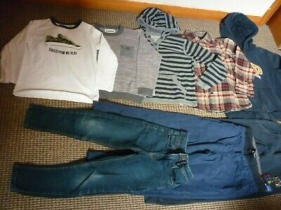 Bundle Boys Clothes age 6-7yrs Hoodie Jeans Joggers Tops Shirt Trousers Next Gap