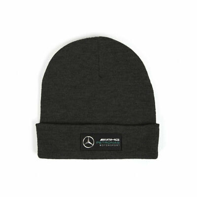 OFFICIAL MERCEDES AMG Petronas F1 2018 2019 Fanwear Beanie Adults hat - BLACK
