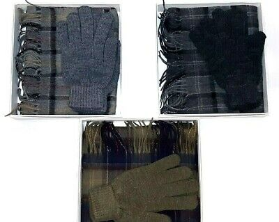 Barbour Box Gift MAC0042 Set Scarf Gloves Wool Scarf and Gloves Gift Box Loot