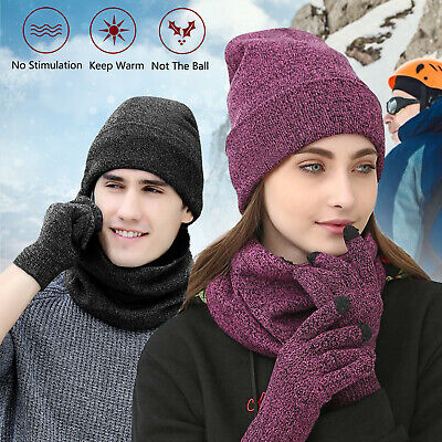 JCB D+Z3 winter set includes touch screen gloves knitted beanie hat and snood