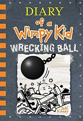Diary of a Wimpy Kid Book 14 Wrecking Ball Hard Cover By Jeff Kinney New