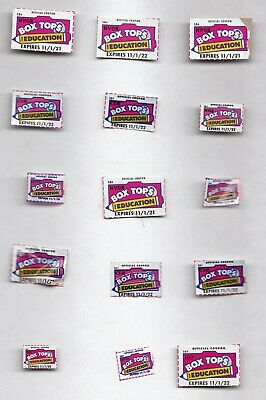 BOX TOPS FOR EDUCATION LOT Of 15 BTFE NEATLY CLIPPED, CURRENT MOST 2021 AND 2022