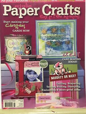 Craft Magazine:  Australian Paper Crafts Issue 46