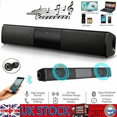 TV Soundbar System Bluetooth Lautsprecher Wireless Eingebauter Subwoofer AUX USB