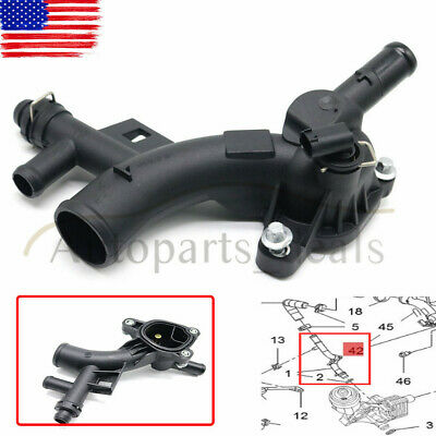 Water Outlet 25193922 Thermostat Housing For 2012-13 Chevrolet Cruze Sonic 1.4L