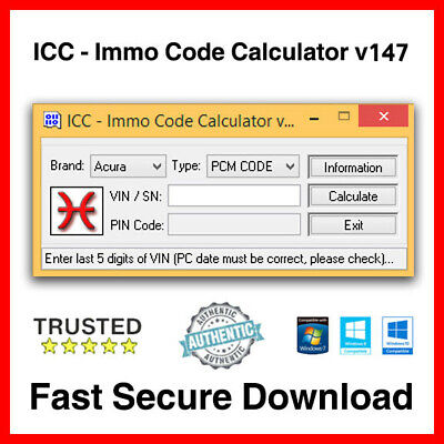 ICC Immo Code Calculator v147 - Secure Download ✅ -  Fast Dilevery ✅