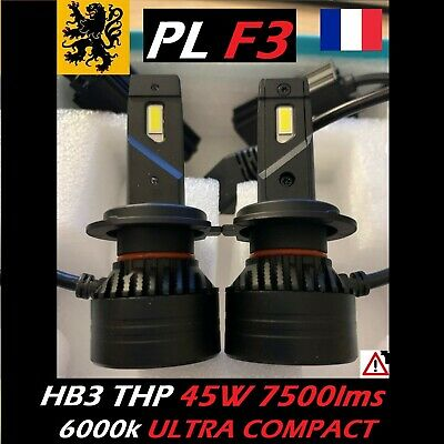 Kit PREMIUM LED HB3 9005 THP 45W 12V 6000k 2x7500lm CSP ANTIERREUR ULTRA COMPACT