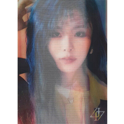 Wheein Official Lenticular Card MAMAMOO 2nd Full Album reality in BLACK HIP