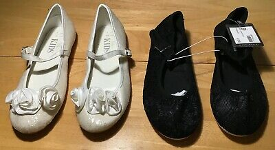 Girls Shoe Bundle UK 1-2 Kids Miss Fiori M&S <H9032
