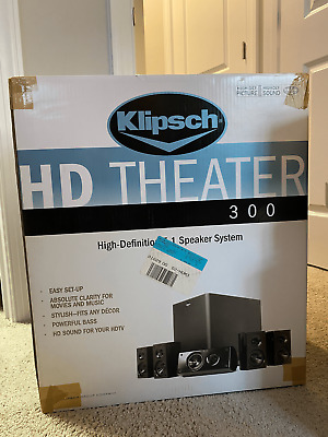 Klipsch HD 300 5.1 Theater Speaker System (Sub + 5 Sats) #2527